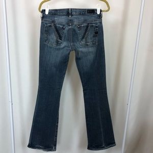 C of H Big Sur Embroidered Low Flare Jeans 28